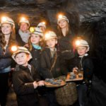A group of children visit the National Coal Mining Museum for England