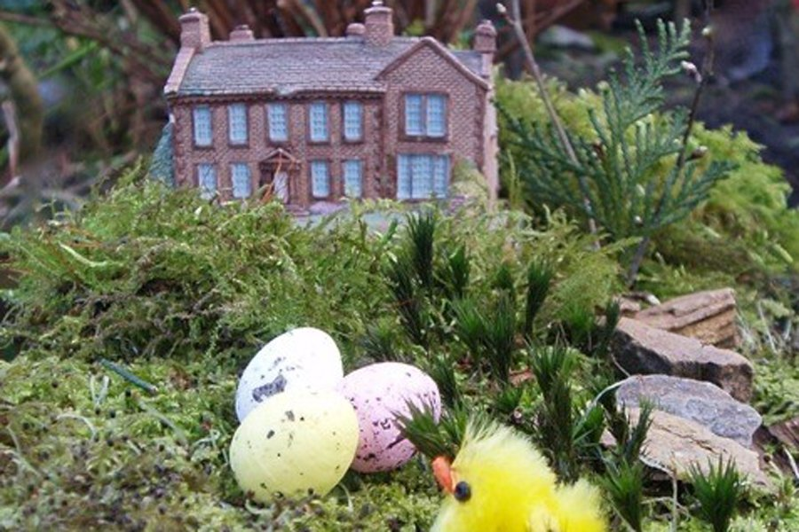 Easter miniature garden at Bronte Parsonage