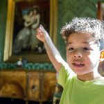 A young boy in Harewood House