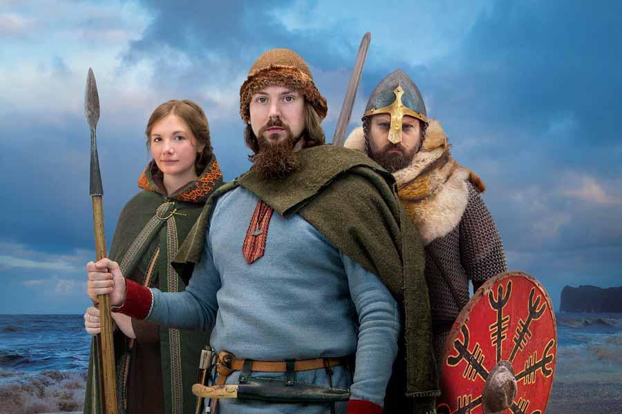 Viking Re-enactors at Jorvik Viking Centre