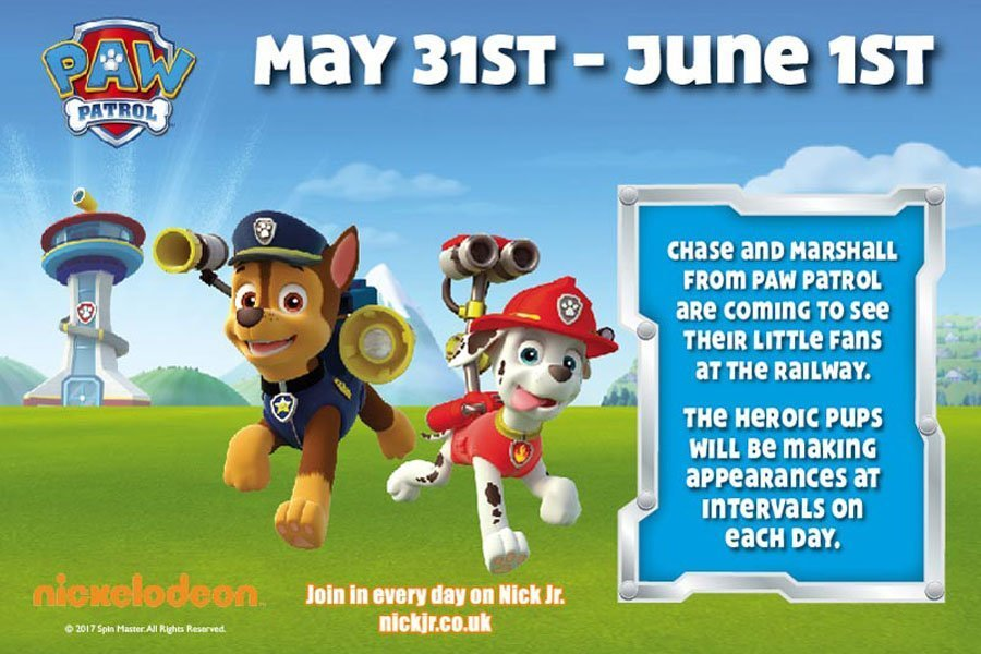Paw Patrol at Keighley and Worth Valley Railway