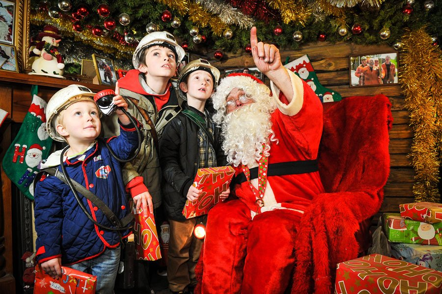 Santa at the National Coal Mining Museum for England