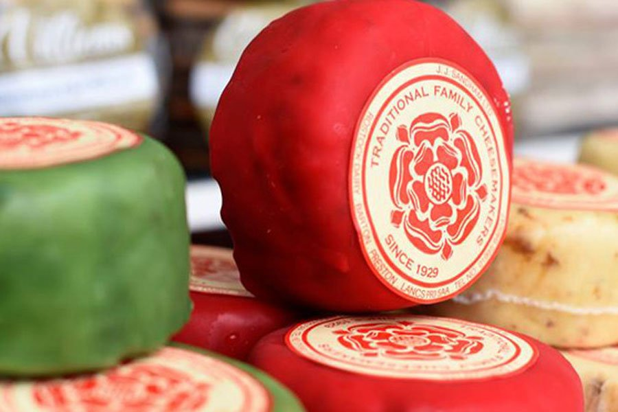 Cheese for sale at Yorkshire Attractions market days