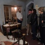 Visitors discuss one of the rooms at The Bronte Parsonage Museum
