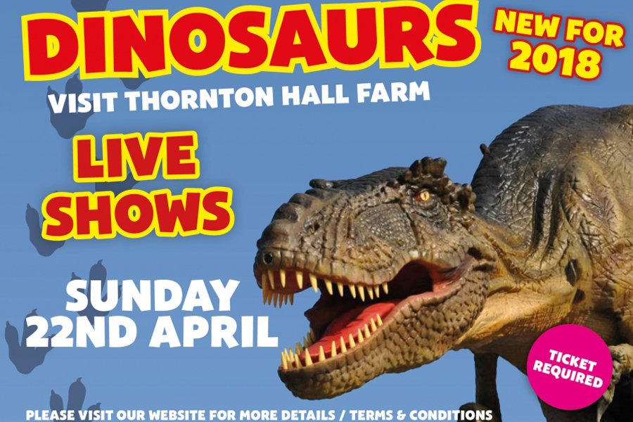 dinosaurs at Thornton Hall Farm