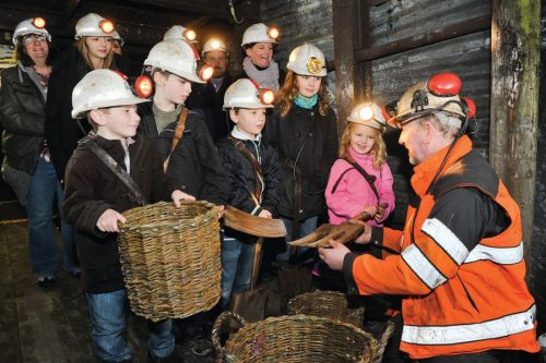 Children enjoy an underground visit at the National Coal Mining Musuem for England