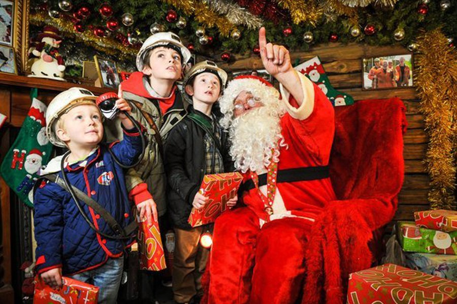 Santa Underground at National Coal Mining Museum for England