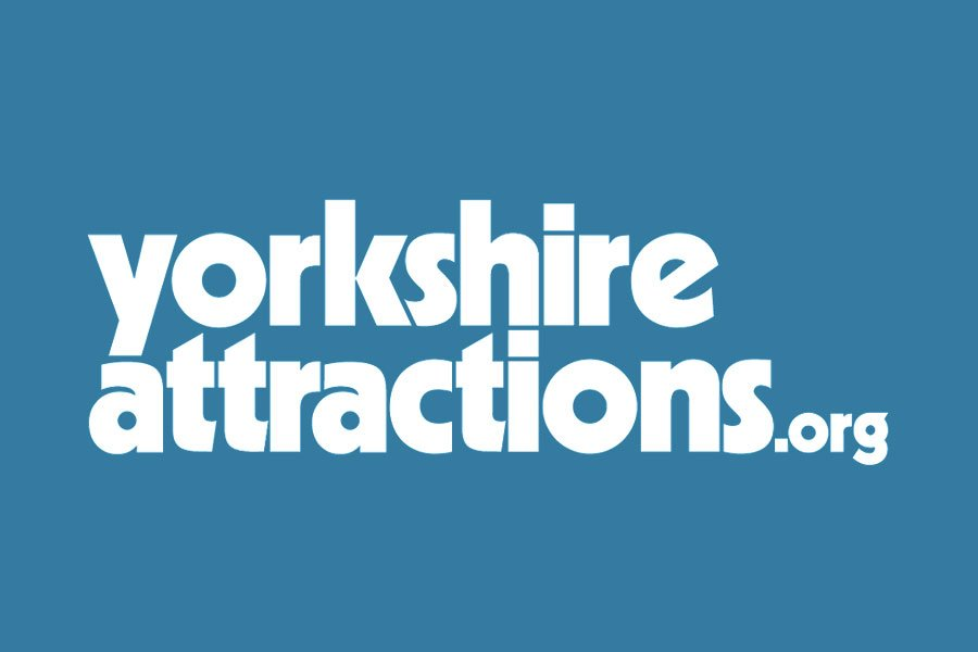 Yorkshire Attractions logo with blue background