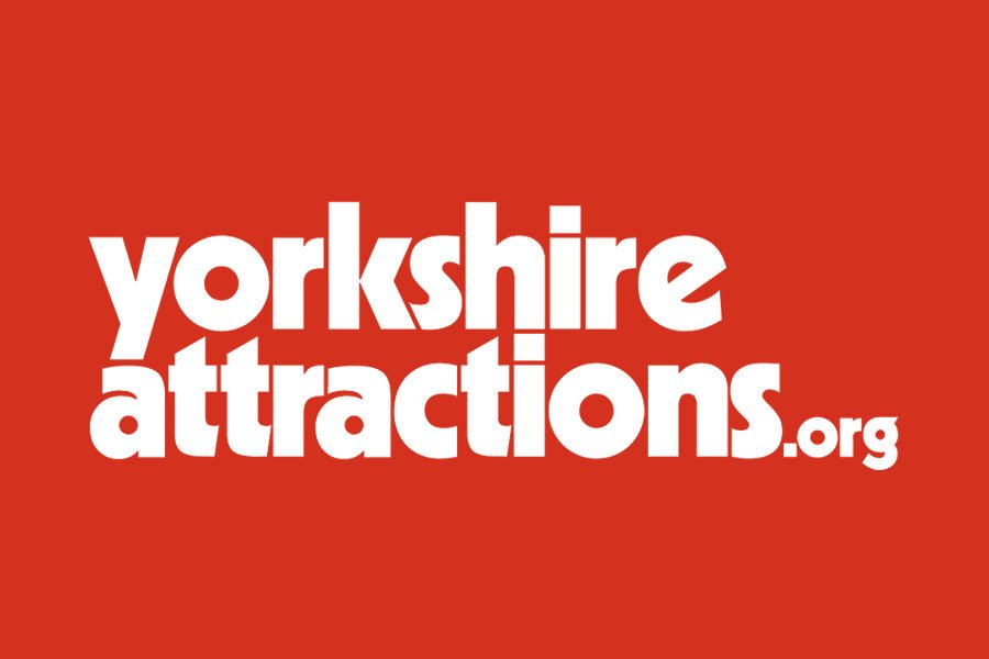 Yorkshire Attractions logo with rede background